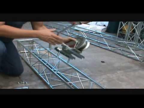 Montagem de Trave - Elevação com carretilha - Weisserhase
