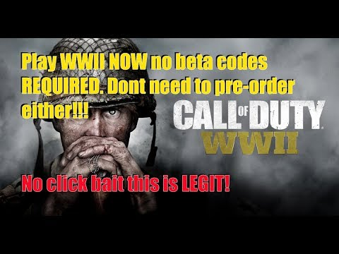 CALL OF DUTY WW2 NO BETA CODE NEEDED! HONG KONG ACCOUNT! ITS LEGIT