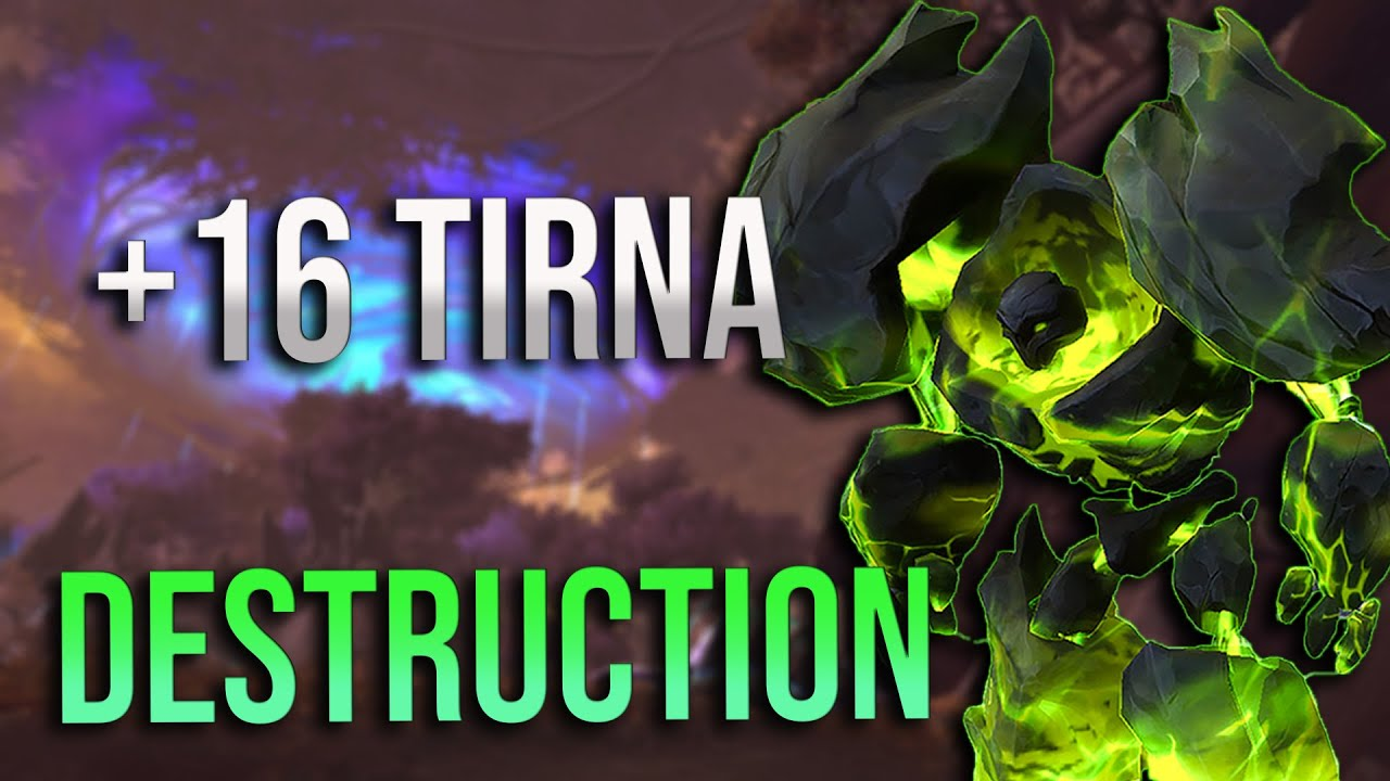 9.1 - Mythic +16 Mists of Tirna Scithe Destruction Warlock POV! 2 Minute Wilfred's Build