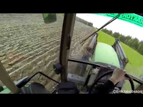 John Deere 6600 With A Kverneland 4 furrow Reversible Plough