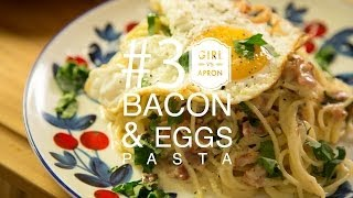 How To Cook Eggs & Bacon Pasta