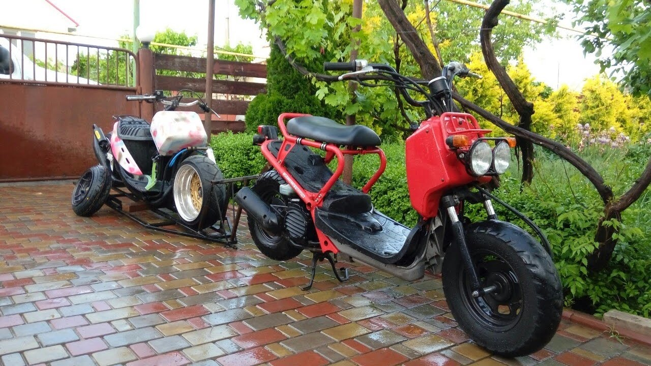 honda zoomer ruckus ruckster moto scooter trailer. Black Bedroom Furniture Sets. Home Design Ideas