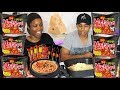 QNA MUKBANG with MY BROTHER james!!!! (SPICY CHEESY NOODLES)