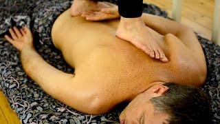 Ayurvedic Yoga Massage, ASMR, Full Body Part 2: Using Feet on Back