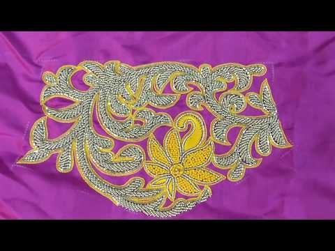 Embroidery designer blouse #003 - French stitch and bead work