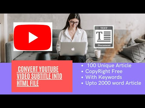 How to Convert Youtube Video into unique article for blog || Convert youtube video into text