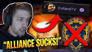 Sodapoppin TRASH TALKS The Alliance On Esfands STREAM! (WoW Classic Funny Moments #21)