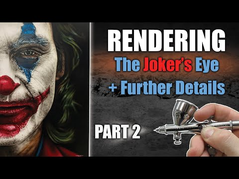 Learn how to Airbrush / Paint the Joker : Part 2