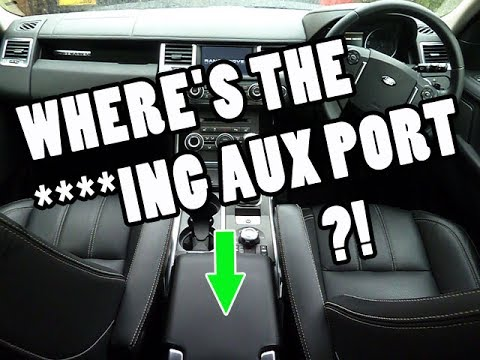 Where is the Aux Port Audio Input Connector on the Range Rover Sport