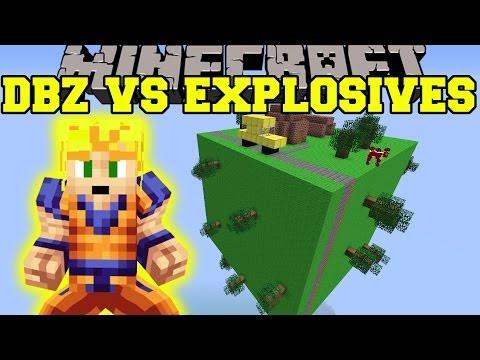 EXPLOSIVES+ MOD VS DRAGON BALL Z - Minecraft Mods Vs Maps (TNT RAIN, BIOME BUSTER)