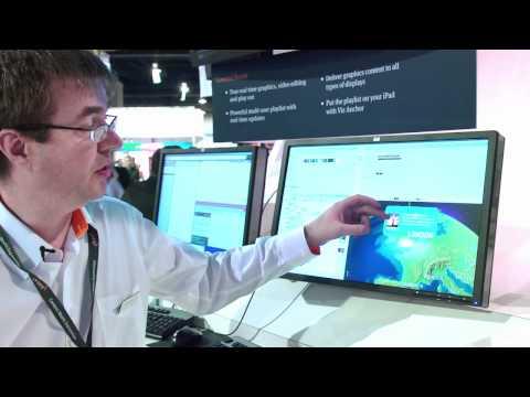 NAB 2011 - Virtual Globe with Twitter integration