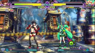 PS3 BLAZBLUE: CONTINUUM SHIFT EXTEND - OPENING & Practice Matches