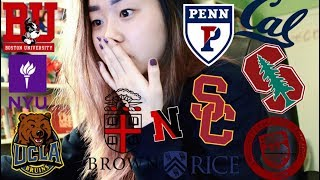 College Decision Reactions 2018 // brown, upenn, usc, uchicago, nyu, ucla + more
