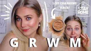 GRWM Affordable Natural - Lockdown Life, Happiness, Motivation, Routine, Makeup Hacks!