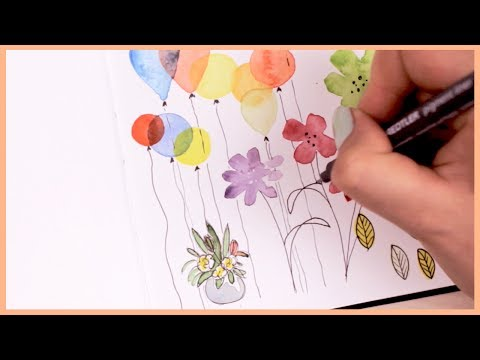 Watercolor Doodle Ideas for Beginners | Art Journal Thursday Ep. 8