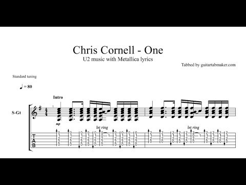 Chris Cornell - One TAB - live - acoustic guitar tab - PDF - Guitar Pro