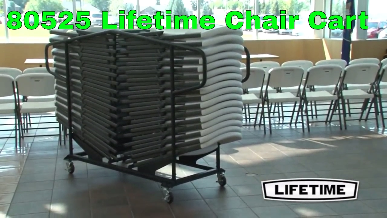 Lifetime Chair Lifetime 80525 New Design 32 Chair Capacity Chair Cart