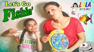 """LET""""S GO FISHING Learn Colors And Numbers With !! LALA TOYS REVIEW !!"""