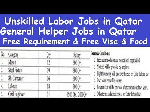 Qatar Helper Jobs High Salary l General Helper Jobs in Qatar l Unskilled Labor Jobs in Qatar