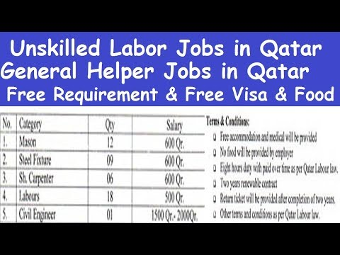 Qatar Helper Jobs High Salary l General Helper Jobs in Qatar