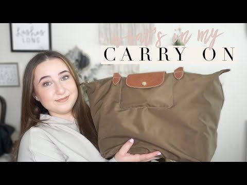 WHAT'S IN MY CARRY ON! Packing Tips and Airplane Essentials | Chelsea Dae thumbnail