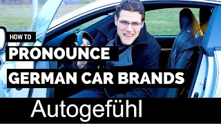 How to pronounce German car brands original name pronunciation BMW, Mercedes, AMG, Porsche & more