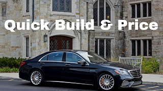 2018 Mercedes AMG S65 Sedan - 4MATIC and Designo - Build & Price Review - Download Build Summary