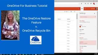 OneDrive Restore vs  OneDrive Recycle Bin