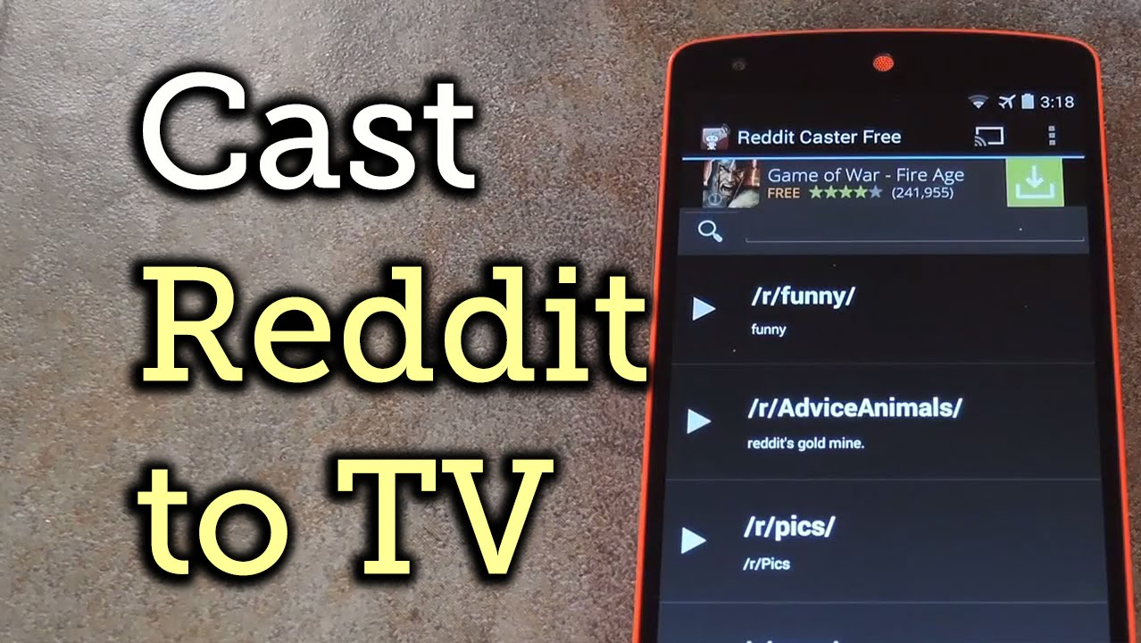 Browse Reddit Images & GIFs on Your TV Using Your Android Device &  Chromecast [How-To]
