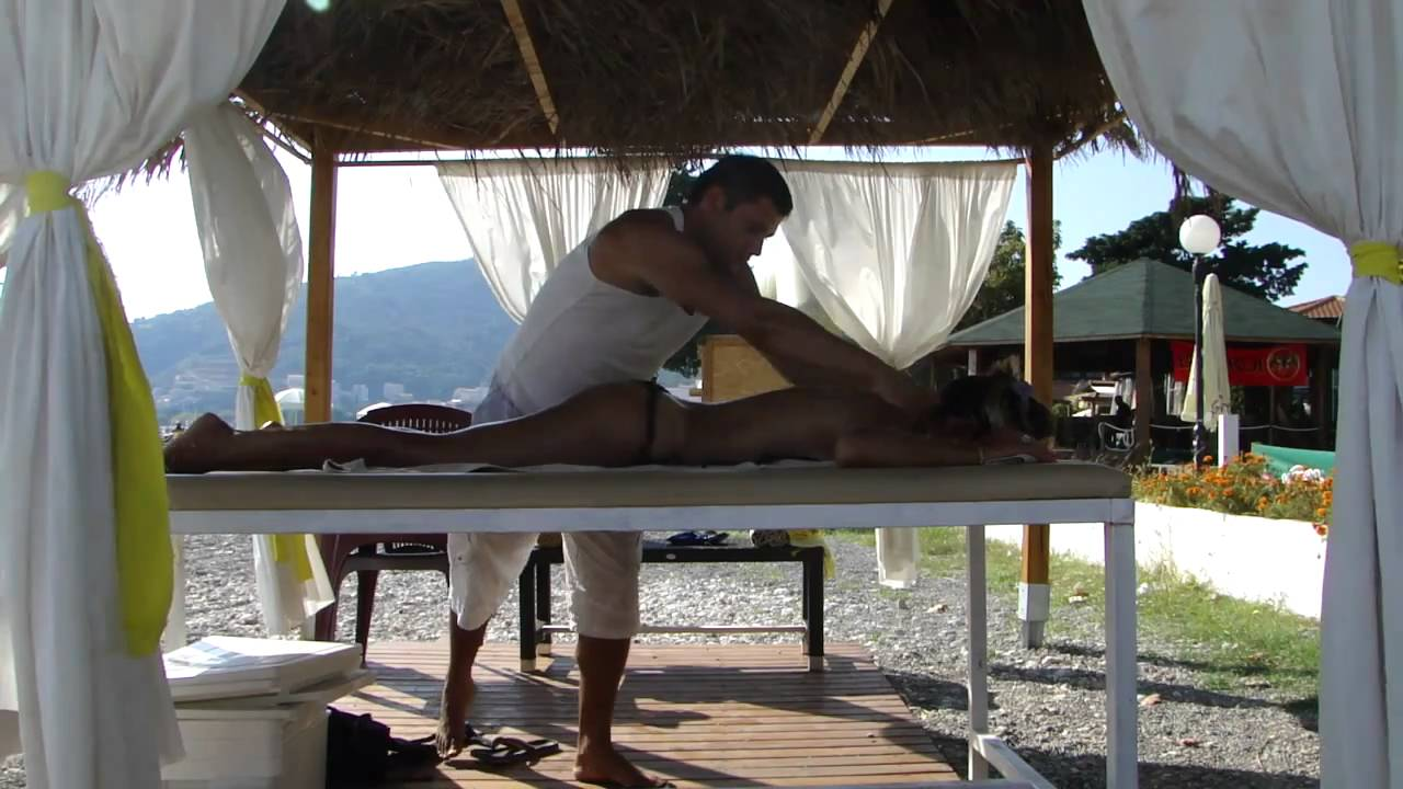 Beach massage Budva - YouTube