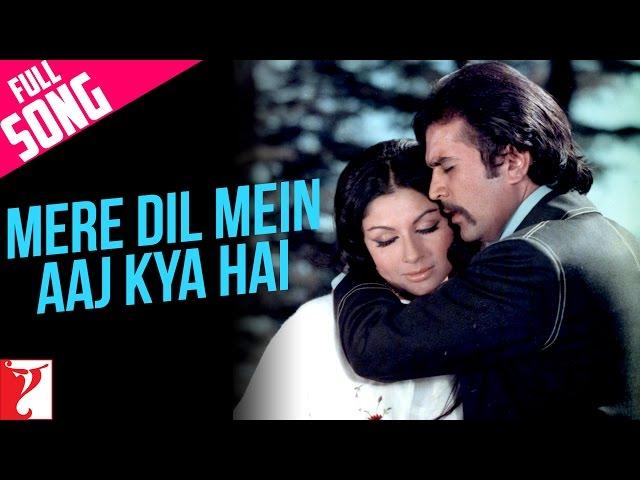 Mere Dil Mein Aaj Kya Hai - Full Song | Daag | Rajesh Khanna | Sharmila Tagore | Kishore Kumar