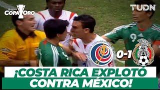 ¡El día que México eliminó y desató la FURIA de Costa Rica! | Copa Oro 2007 | TUDN