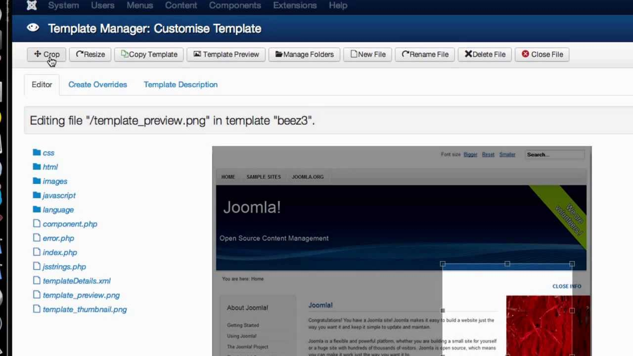 Joomla 3.2 Improved Template Manager - YouTube