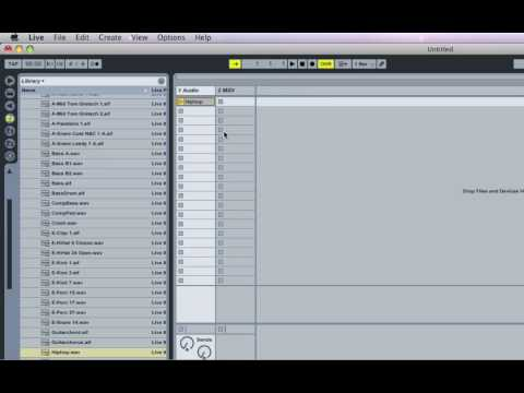 Ableton Live 8 - Part 3 [Tempo, Samples, Play-Stop Clips]