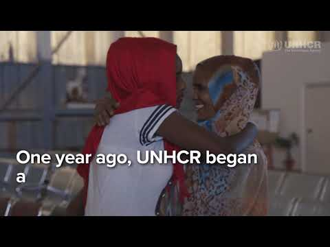 One year of UNHCR evacuations from Libya