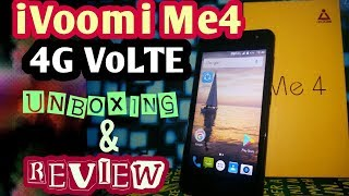 IVOOMI ME4 unboxing and quick hands-on review Best 4G VoLTE mobile under 3000