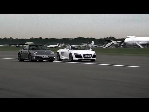 Audi R8 vs Porsche 997 - Top Gear - Series 15 - BBC