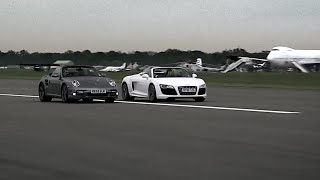 Audi R8 vs Porsche 997 - Top Gear - Series 15 - BBC