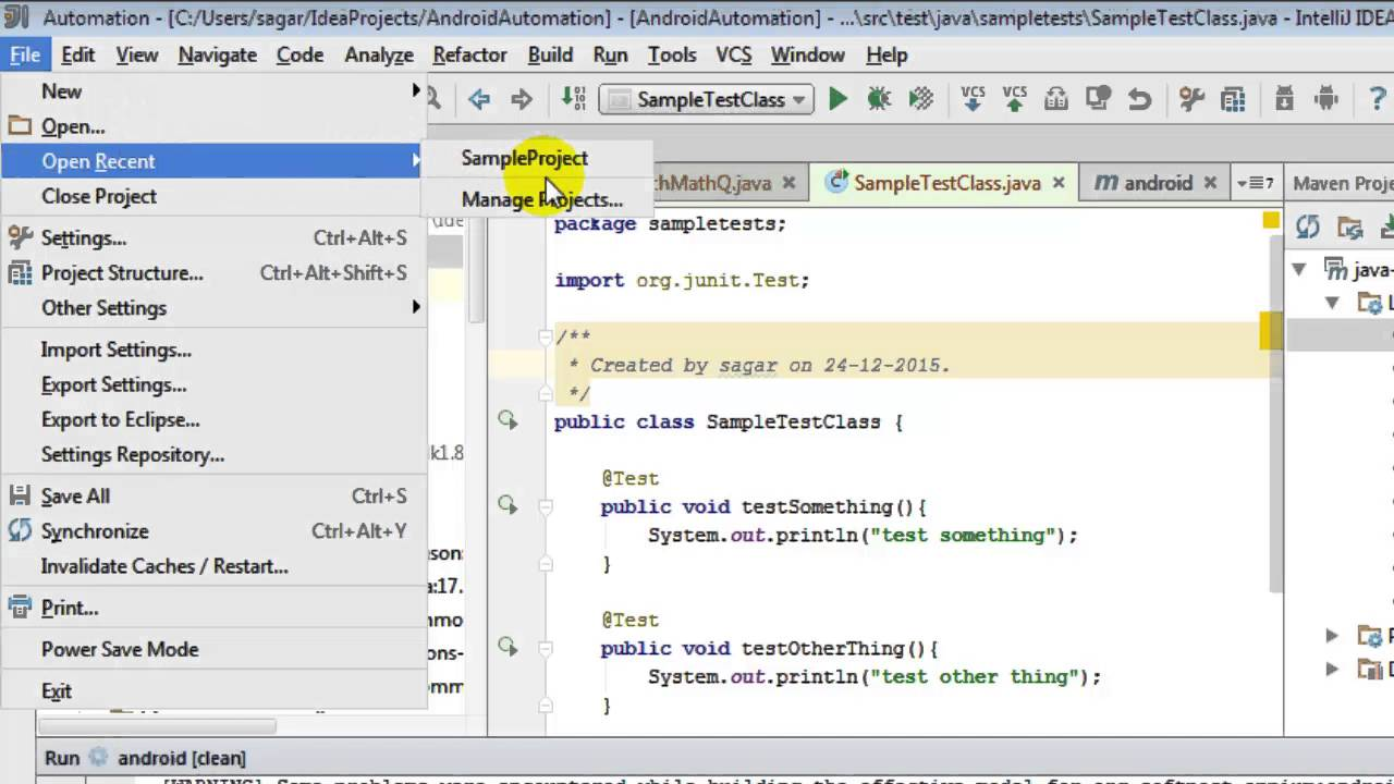How to delete project in intellij IDEA