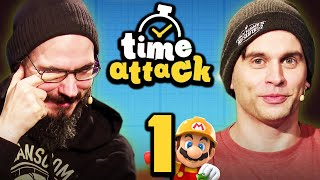 LOS! Mario Maker 2 Wettrennen #1 - Gregor vs. Fabian | Time Attack!