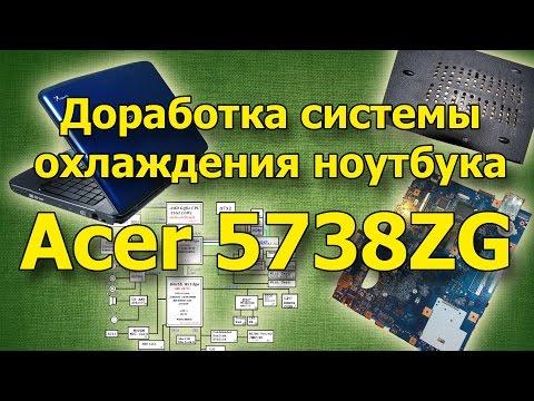 Доработка системы охлаждения ноутбука Acer 5738ZG