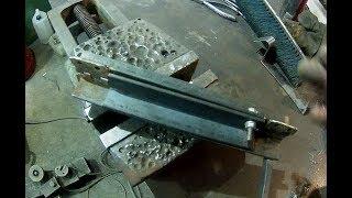 Карманный листогиб для нержавейки полосы. Обзор. Bending machine.  Overview