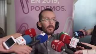 Pablo Echenique en la jornada 'En 2019, Podemos'