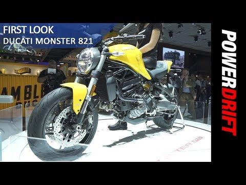 Ducati Monster 821 : EICMA 2017 : PowerDrift