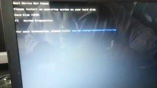 Windows 7, Boot Device Not Found, El dispositivo de arranque no ha sido encontrado (Suscríbete :)