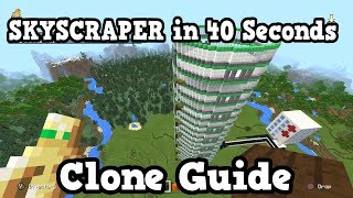 Minecraft - How To Build A Skyscraper in 40 Seconds