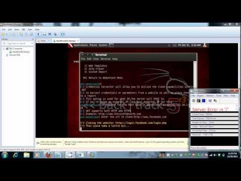 Facebook Hacking & Backtrck instalation