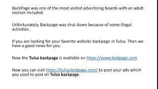 Www tulsa backpage com