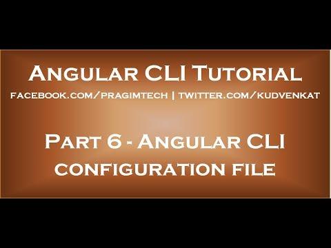 Angular CLI configuration file
