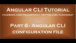 Angular CLI configuration file Mp3